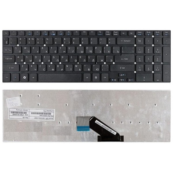 Клавиатура для Acer Aspire V3, V3-551G, V3-571G, V3-771G, E1-522 (MP-10K33SU, V121702AS4)